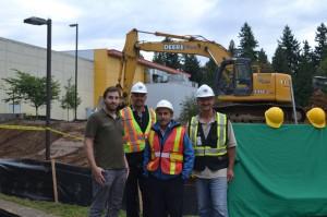 Excavators begin working on the long-awaited building.
