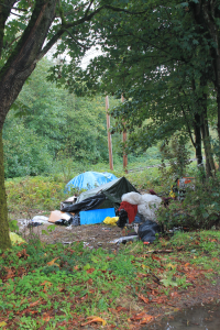 The Happy Tree homeless camp has been forced to move more than once over recent months.