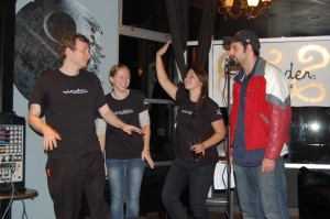 Louden editorial board members joined MC Aaron Levy of CIVL radio onstage for memorable moments.
