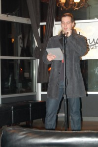 Paul Esau was one of the first at the mic, reciting part of a friend's poem.