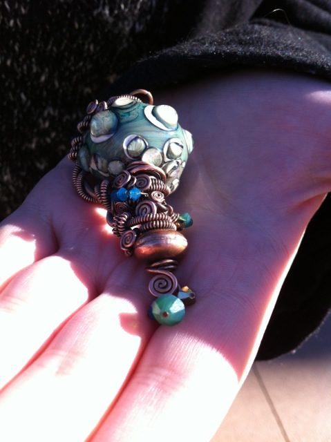 It took Gomes four hours just to plan out this deep sea-inspired pendant. (Image:  Valerie Franklin)