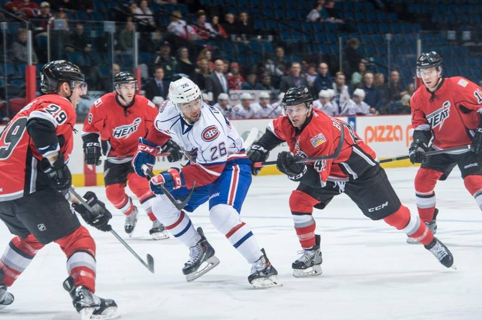 The Heat are counting on players like Ben Street, Chad Billins, and Corban Knight to push the team into contention. (Image:  Abbotsford Heat / Facebook)