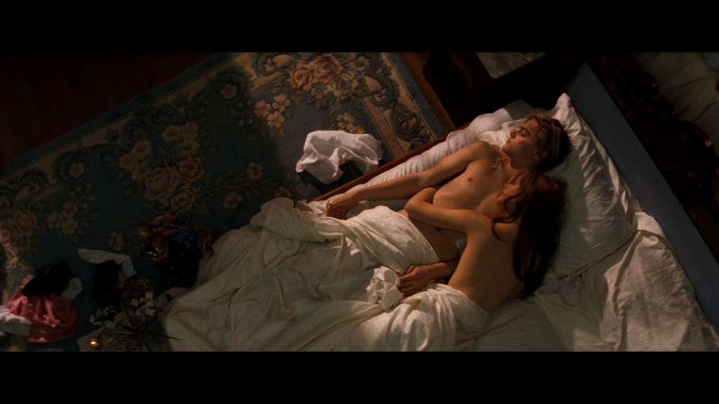 Sexual relations are never this pretty or clean.  (Image: Romeo  + Juliet  (1996))