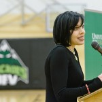 Bif Naked, who received an honorary doctorate from UFV last spring, returned to talk to students