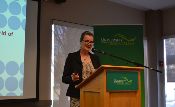 Honorary doctorate recipient Penny Park returned to UFV to bridge the gap between science and journalism. (Image:  Ashley Mussbacher)
