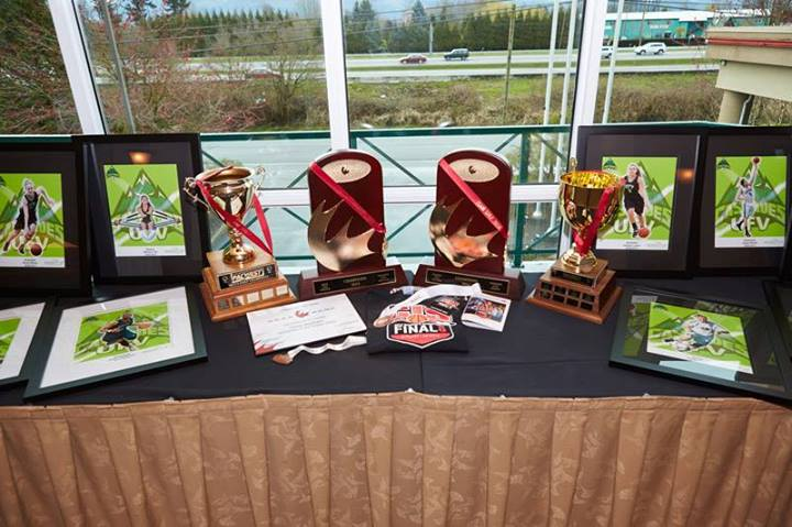 UFV Athletics passed out a score of awards on its season-ending night, including two to soccer rookies. (Image:  Tree Frog Imaging)