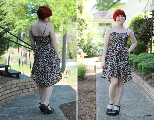 This Flickr user models a tamed-down, campus-friendly version of the high-low dress. (Image: Jamie/Flickr)