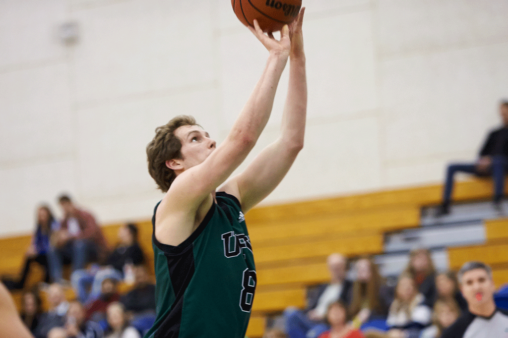 Jasper Moedt will do battle under the basket for one last year as a member of UFV's varsity team. (Image:  Tree Frog Imaging)