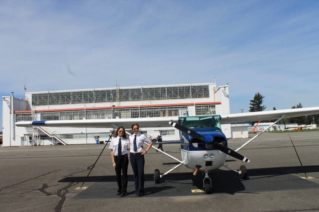 Women only make up six per cent of pilots in Canada.   (Photo: Katherine Gibson)