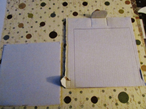 Use one cardboard square to trace the other. (Step 5)