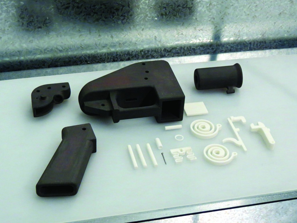 One of the main risks that come with 3D printers is printed weapons.  (Image: Justin Pickard)