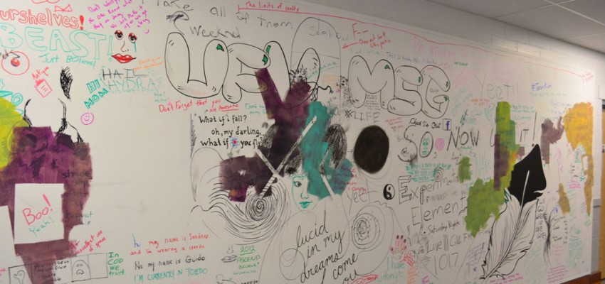 Free expression or free explosion? Why the art wall in C building attracted chaos, not creativity