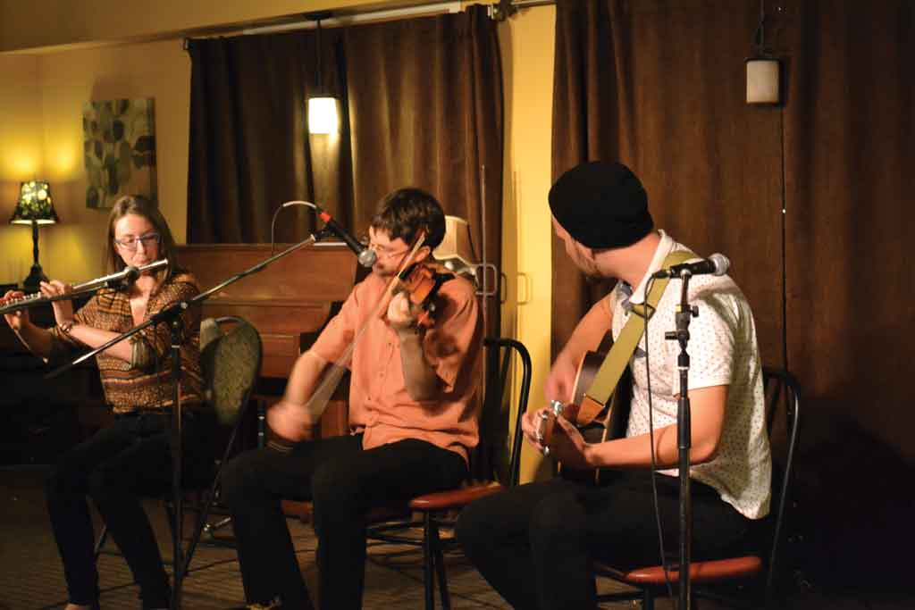 Celtic jazz trio Elsay delights the audience at House of James.  (Image: Alex Rake)