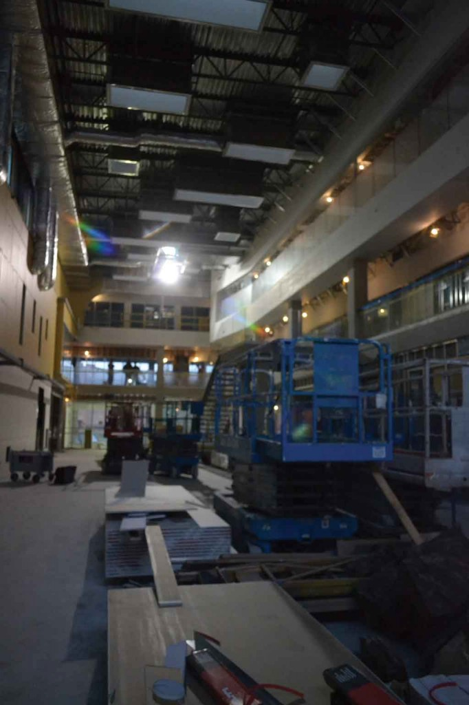 The SUB's huge atrium promises to be a spacious central lounge.