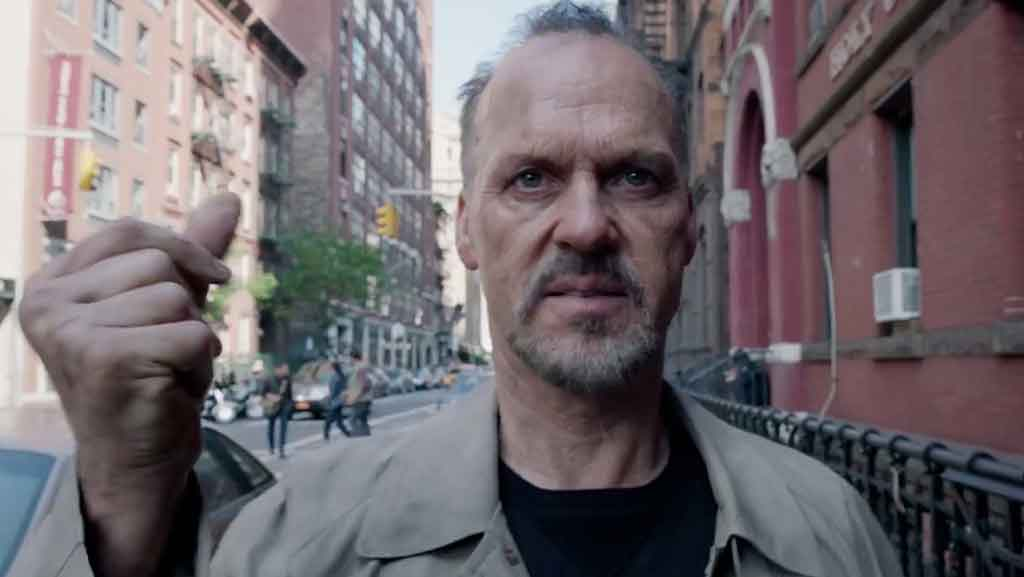 Michael Keaton plays a washed-up movie star in a film that fires shots at the self-obsessed Hollywood culture.