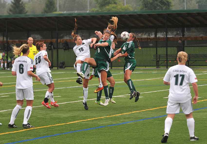 The women's soccer team fell just short of matching the results of their 2010 trip to the nationals. (Image: UFV Flickr)