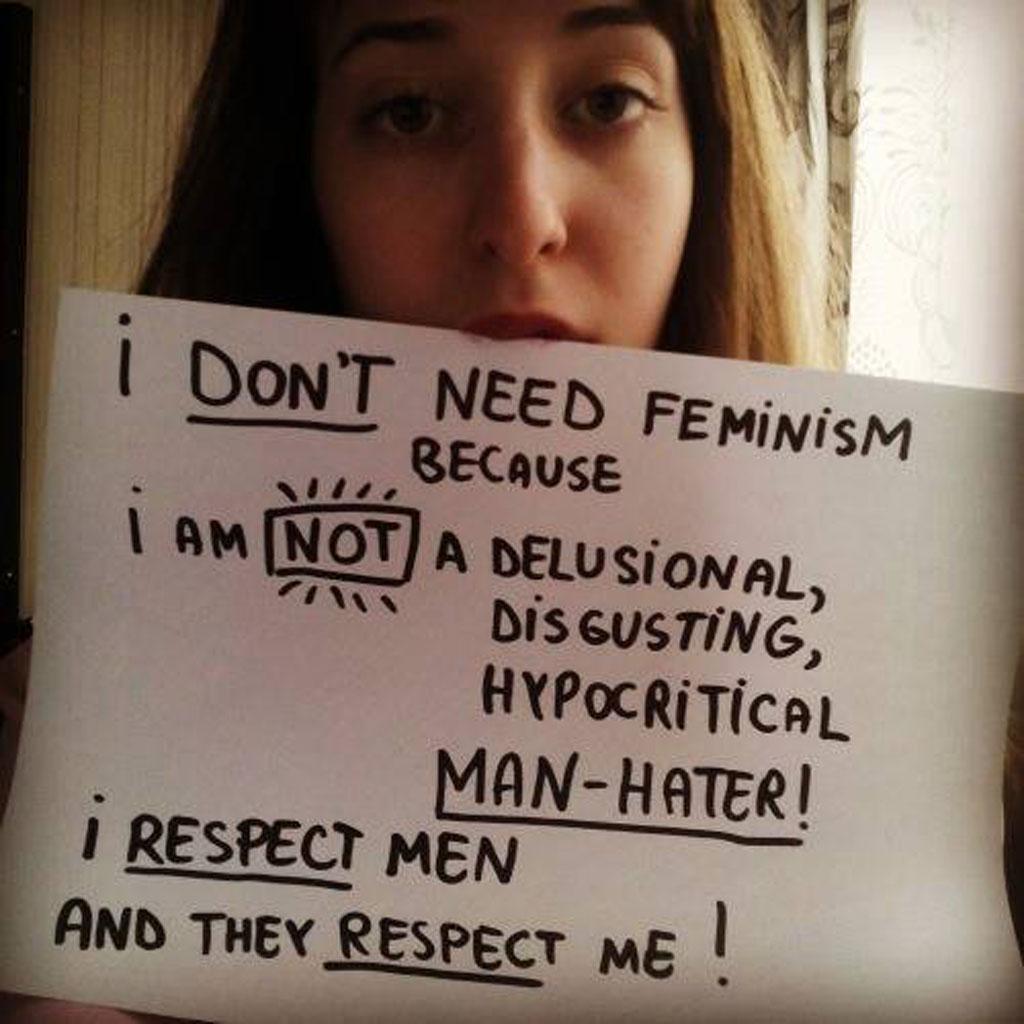 Do anti-feminists understand what feminism encompasses?  (Image:  Women Against Feminism/ Facebook)