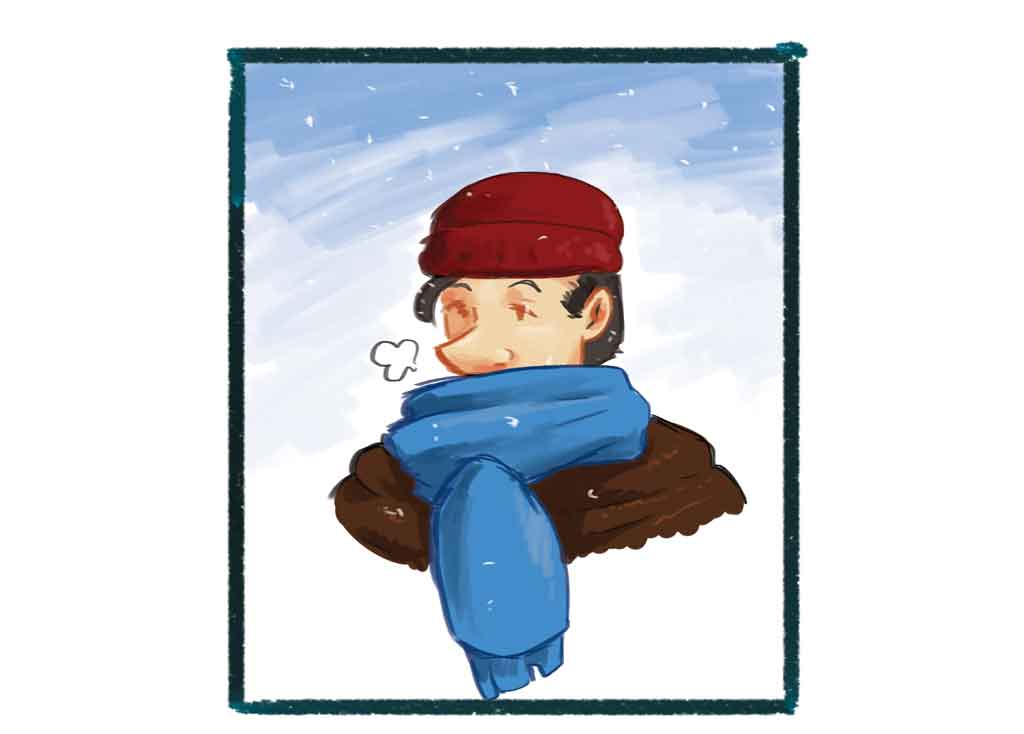Bundle up with good thoughts to avoid the frostbite of misery.