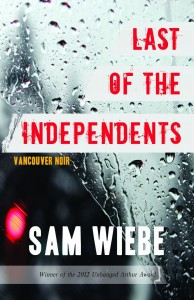 Sam Wiebe gives the detective humanity in his noir novel.