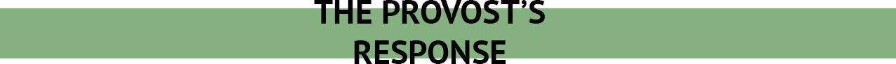 the-provost's-response