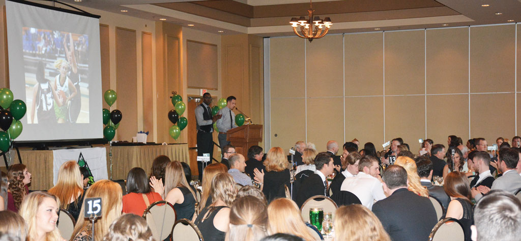 Kadeem Willis and Mark Village emceed the awards banquet, which was held at the Ramada Inn in Abbotsford.