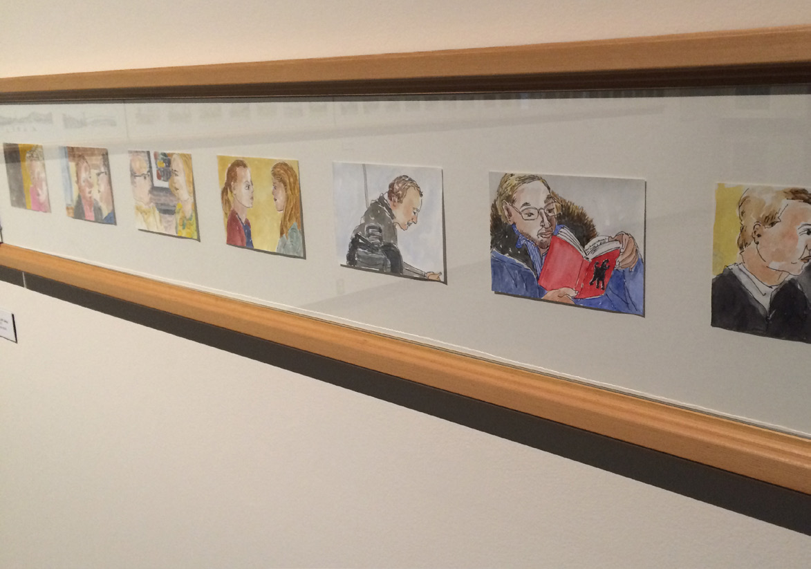 Post-card sized pieces of art tell Klassen's story