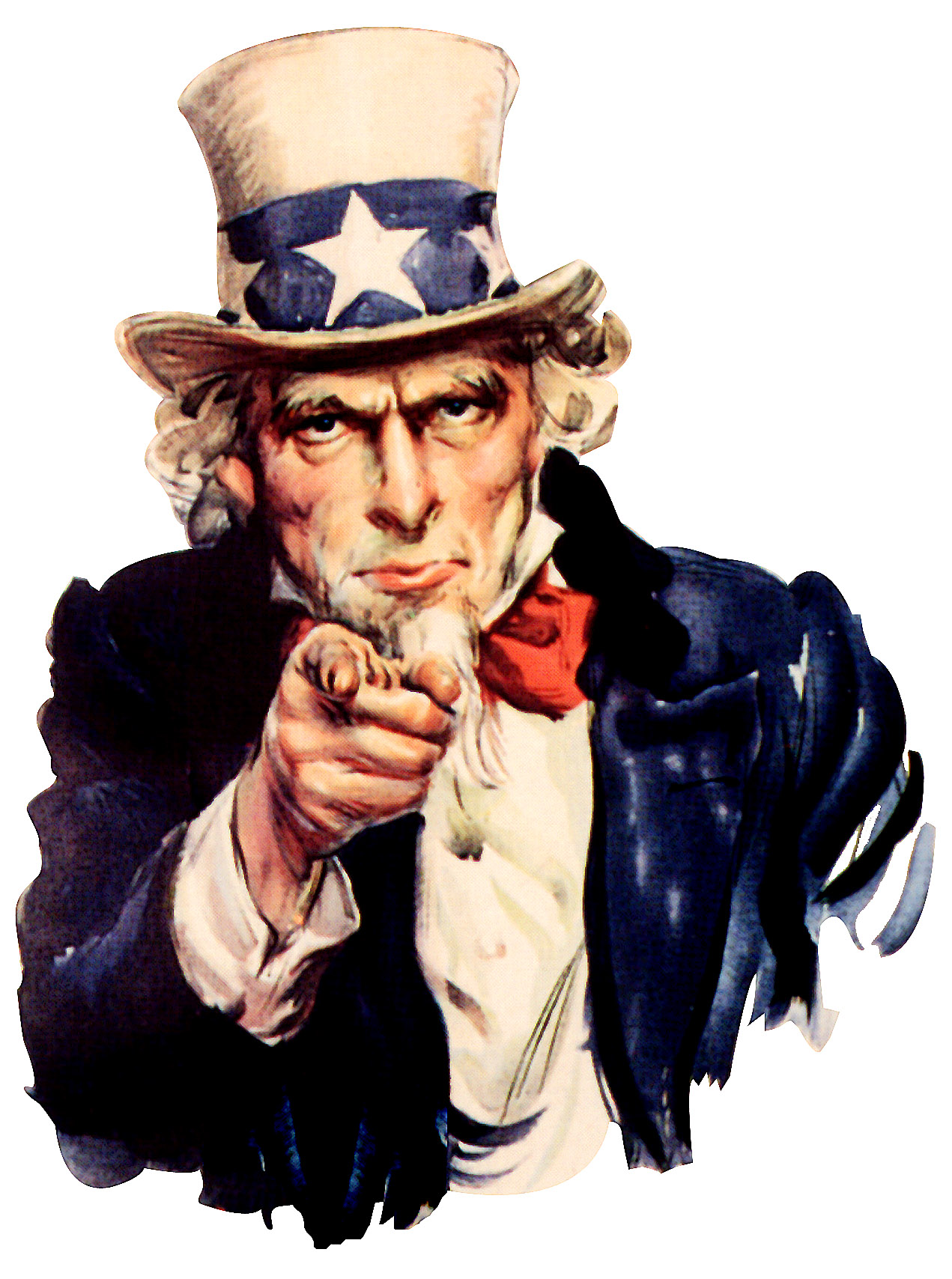 Uncle sam pointing finger at camera