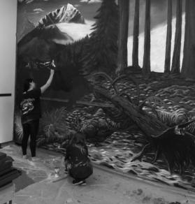 Visual arts students bring art into the community